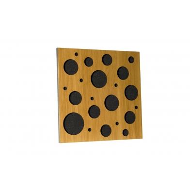 Купить акустическая панель ecosound ecobubble cream 50х50 см 53мм цвет светлый  дуб по низкой цене