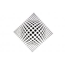 Акустическая панель Ecosound Lens white 50х50 см 33мм  Цвет белый