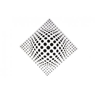 Купить акустическая панель ecosound lens white 50х50 см 53мм  цвет белый по низкой цене