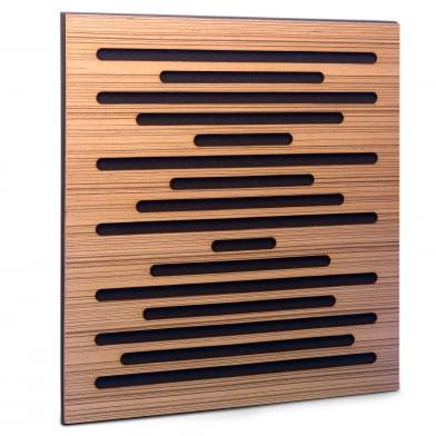 Акустическая панель Ecosound EcoWave Zebrano 50x50см 53мм цвет крем
