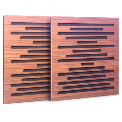 Купить акустическая панель ecosound ecowave zebrano 50x50см 73мм цвет крем по низкой цене
