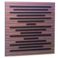 Акустическая панель Ecosound EcoWave Venge Contrast 50x50см 33мм цвет коричневый в полоску