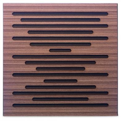 Купить акустическая панель ecosound ecowave venge contrast 50x50см 53мм цвет коричневый в полоску по низкой цене