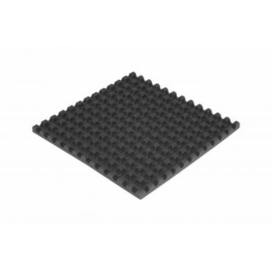 Ячеистый поролон волна Ecosound толщина 30мм,1мх1м Цвет черный графит