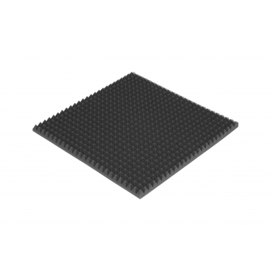 Панель из акустического поролона Ecosound PYRAMID S 30мм, 50х50см цвет черный графит