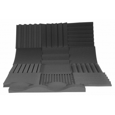 Купить панель из акустического поролона ecosound town 50мм, 50х50см цвет черный графит по низкой цене