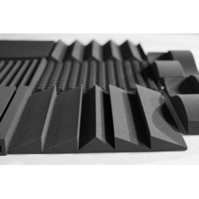 Купить панель из акустического поролона ecosound fish 75 мм, 50х10см цвет черный графит по низкой цене