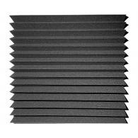 Панель из акустического поролона Ecosound Пила 100 мм 0,6мх0,6м Цвет черный графит