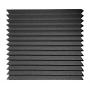 Купить панель из акустического поролона ecosound пила 100 мм 0,6мх0,6м цвет черный графит по низкой цене