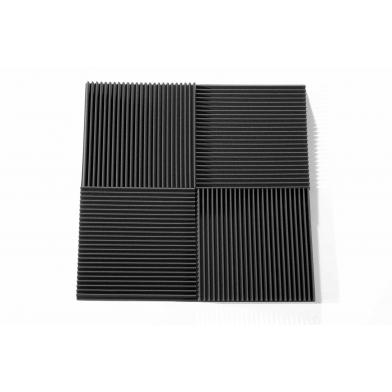 Купить панель из акустического поролона ecosound volna m 40мм, 50х50см цвет черный графит по низкой цене