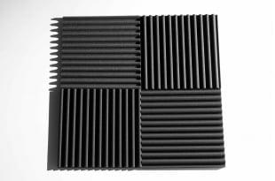 Панель из акустического поролона Ecosound VOLNA-S 30 мм, 50х50см цвет черный графит