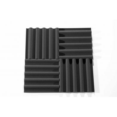 Купить панель из акустического поролона ecosound volna-l 50мм, 50х50см цвет черный графит по низкой цене