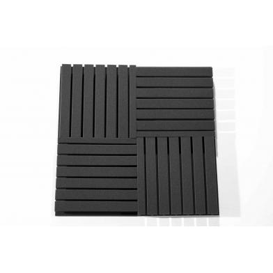 Купить панель из акустического поролона ecosound tee 50мм, 50х50см цвет черный графит по низкой цене