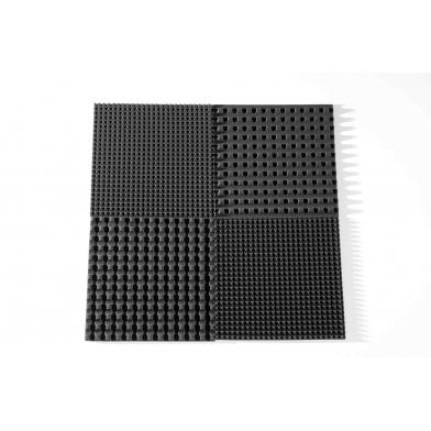 Купить панель из акустического поролона ecosound pyramid s 30мм, 50х50см цвет черный графит по низкой цене