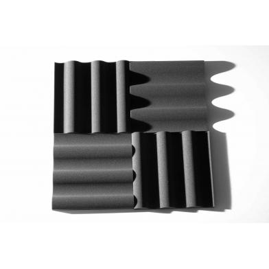 Купить панель из акустического поролона ecosound volna xl 50мм, 50х50см цвет черный графит по низкой цене