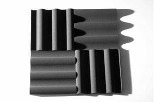 Панель из акустического поролона Ecosound VOLNA XL 50мм, 50х50см цвет черный графит