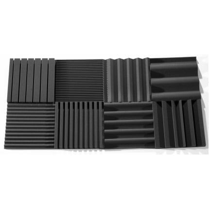 Превью Панель из акустического поролона Ecosound VOLNA M 40мм, 50х50см цвет черный графит