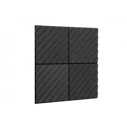 Превью Акустическая панель Ecosound Acoustic Wave 70мм, 50х50см цвет черный графит