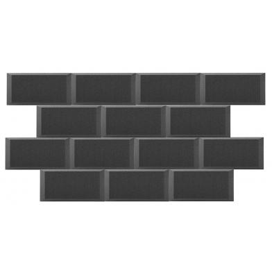 Купить панель из акустического поролона ecosound duos 50мм,25х50см цвет черный графит по низкой цене