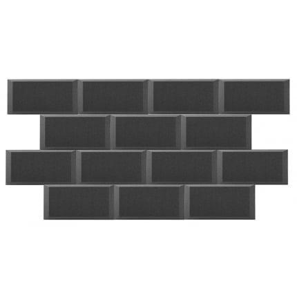 Превью Панель из акустического поролона Ecosound Brick 50мм, 25х50см цвет черный графит