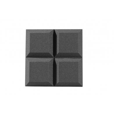 Купить панель из акустического поролона ecosound quatro 50мм,50х50см цвет черный графит  по низкой цене