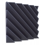 Купить акустическая панель ecosound acoustic wave 50мм, 50х50см цвет черный графит по низкой цене
