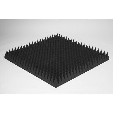 Купить акустический поролон ecosound пирамида 120мм 1мх1м цвет черный графит по низкой цене