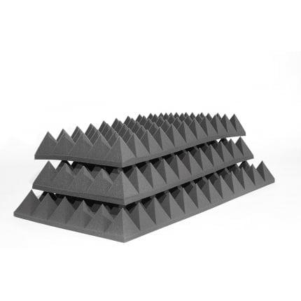 Превью Панель из акустического поролона Ecosound пирамида XL 120мм. 1,2мх0,6м Цвет черный графит
