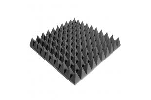Панель из акустического поролона Ecosound пирамида 90мм Mini, 0,5х0,5м черный графит