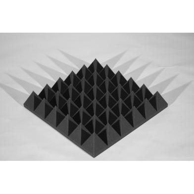 Панель из акустического поролона Ecosound пирамида XLmini 120мм. 0,6х0,6м Цвет черный графит