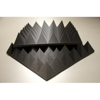 Купить панель из акустического поролона ecosound пирамида xlmini 120мм. 0,6х0,6м цвет черный графит по низкой цене