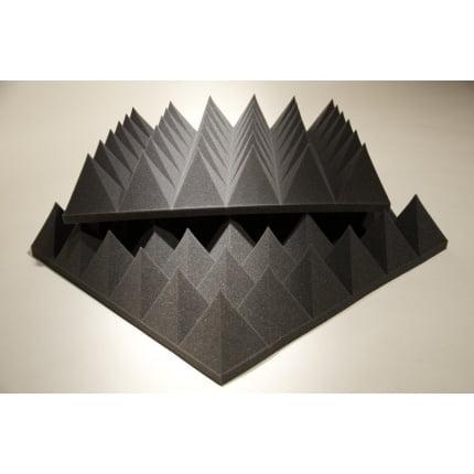 Превью Панель из акустического поролона Ecosound пирамида XLmini 120мм. 0,6х0,6м Цвет черный графит
