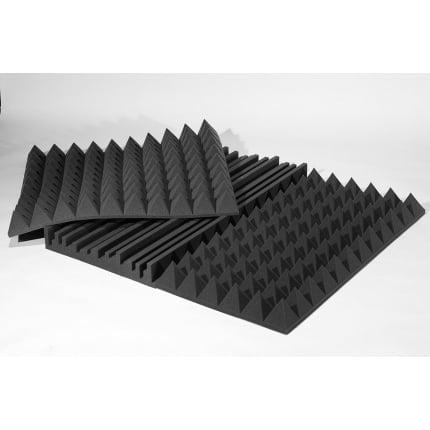 Превью Панель из акустического поролона Ecosound Manhattan100 мм 1,2мх0,6м Цвет черный графит