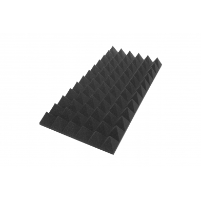 Панель из акустического поролона Ecosound пирамида XL 120мм. 1,2мх0,6м Цвет черный графит
