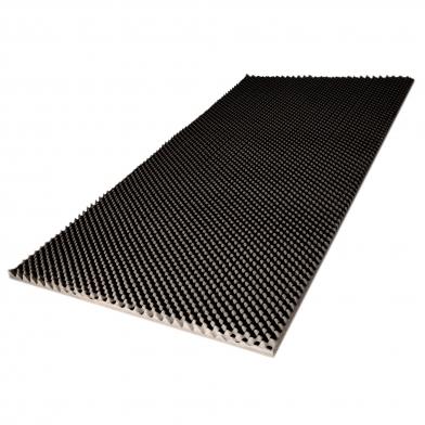 Купить ячеистый поролон волна ecosound толщина 20мм,1мх2м цвет черный графит по низкой цене