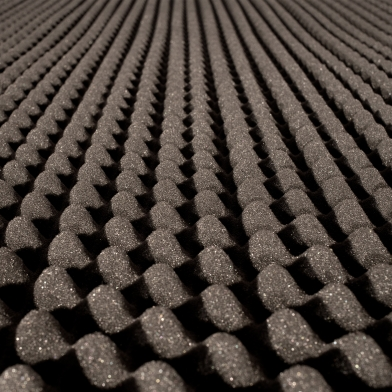 Купить ячеистый поролон волна ecosound толщина 20мм,1мх1м цвет черный графит по низкой цене
