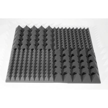 Превью Акустический поролон Ecosound пирамида 30мм Micro, 20х20см Цвет черный графит
