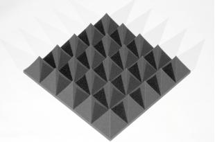 Панель из акустического поролона Ecosound пирамида 100мм Mini, 0,5х0,5м черный графит
