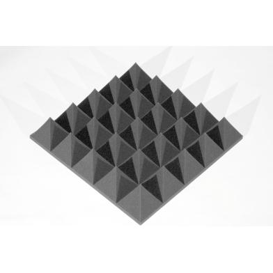 Купить панель из акустического поролона ecosound пирамида 100мм mini, 0,5х0,5м черный графит по низкой цене
