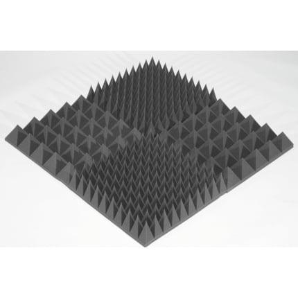 Превью Панель из акустического поролона Ecosound пирамида 120мм Mini, 0,5х0,5м черный графит