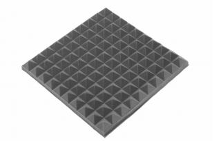 Панель из акустического поролона Ecosound пирамида 50мм Mini, 0,5х0,5м черный графит