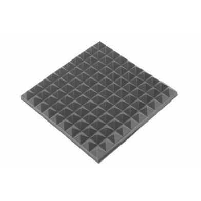 Купить панель из акустического поролона ecosound пирамида 50мм mini, 0,5х0,5м черный графит по низкой цене