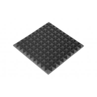 Купить панель из акустического поролона ecosound пирамида 20мм mini, 50х50см цвет черный графит по низкой цене