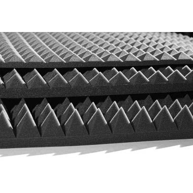 Купить акустический поролон ecosound пирамида 10мм 1м х 1м цвет черный графит по низкой цене