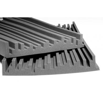 Купить панель из акустического поролона ecosound manhattan100 мм 1,2мх0,6м цвет черный графит по низкой цене