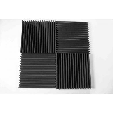 Купить панель из акустического поролона ecosound пила 50 мм 50х50см цвет черный графит по низкой цене