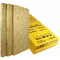 Акустическая минеральная вата Acoustic Wool Sonet P 100мм-1мх0,6м 80 кг/м3, (2,4 м 2 /упак.) цвет светло-желтый