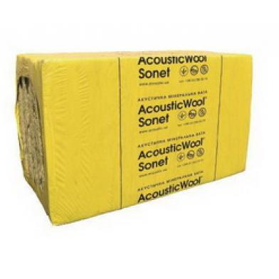 Акустическая минеральная вата AcousticWool Sonet 50 мм-звукоизоляция воздушного шума-48 кг/м3 1мх0,6м (6,0 м 2 /упак.) цвет светло-желтый