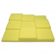 Панель из акустического поролона Ecosound Pattern Yellow 60мм, 60х60см цвет желтый