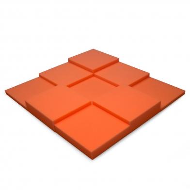 Купить панель из акустического поролона ecosound pattern orange 60мм, 60х60см цвет оранжевый по низкой цене